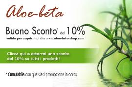 Offerta benessere: sconto 10% su ottimi prodotti a base di Aloe Arborescens