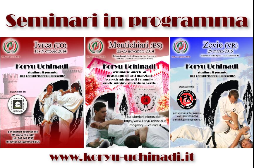 I prossimi seminari di Koryu Uchinadi in Italia
