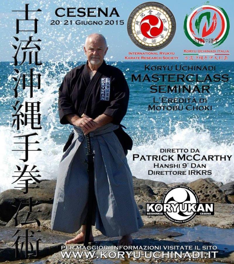 Masterclass Seminar 2015 diretto da Hanshi Patrick McCarthy a Cesena