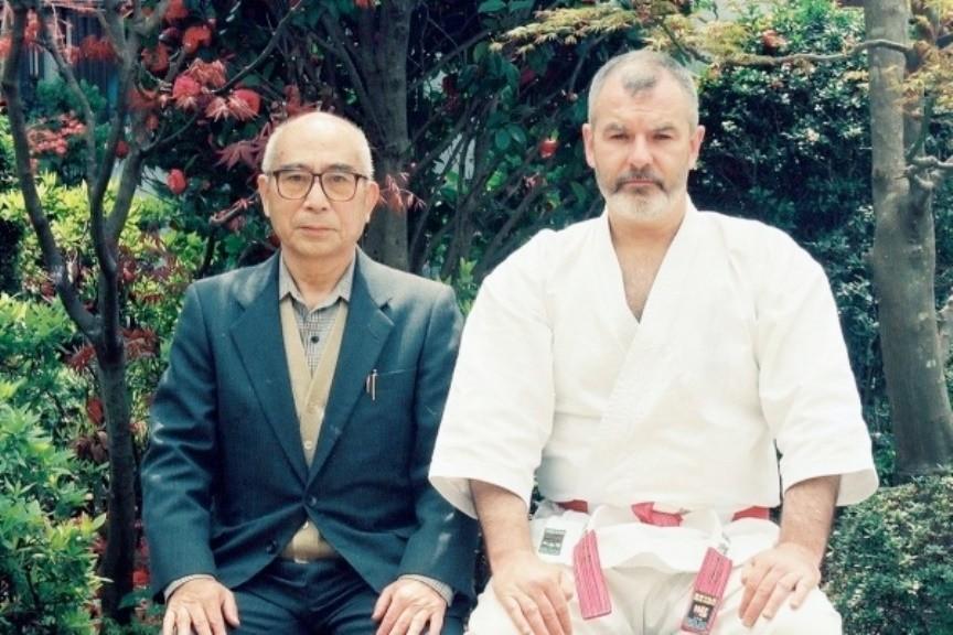 Hanshi Hiroshi Kinjo con Hanshi Patrick McCarthy
