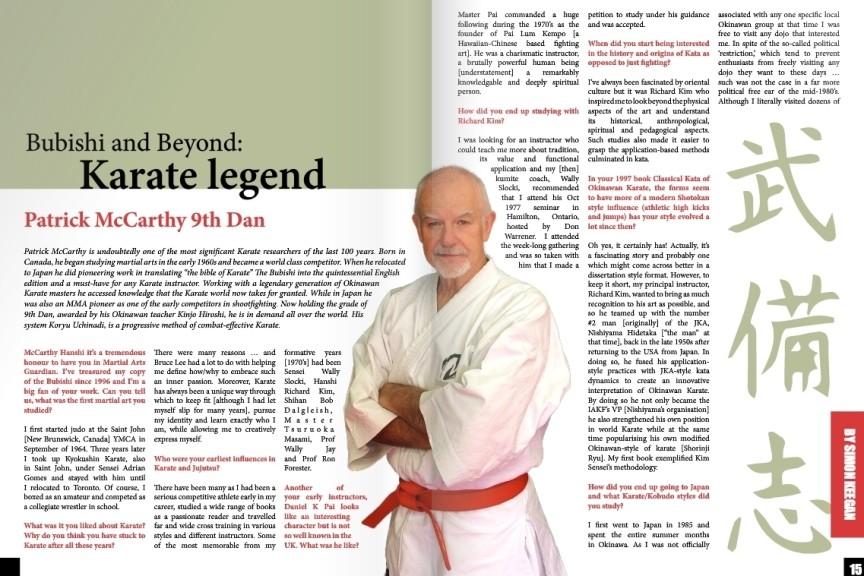 Hanshi Patrick McCarthy su Martial Arts Guardian