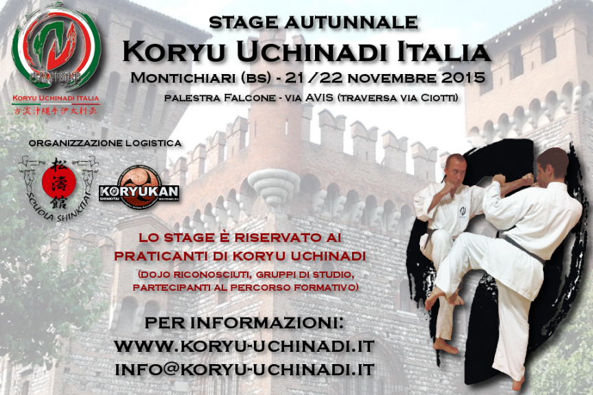 Stage autunnale Koryu Uchinadi Italia