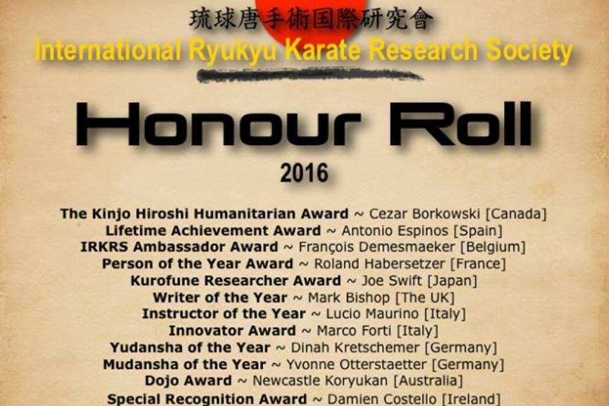 IRKRS Honour Roll 2016