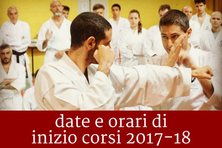 Corsi di karate a Cesena: date e orario di inizio corsi 2017-18