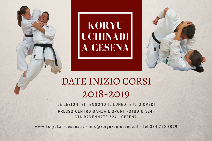 Koryu Uchinadi a Cesena: calendario corsi 2018-19