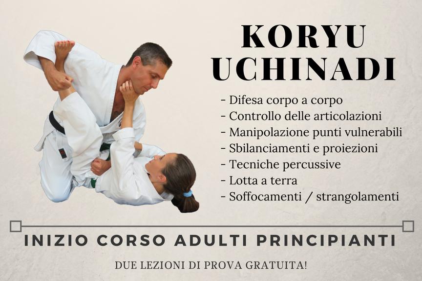 Inizio corso Koryu Uchinadi adulti principianti 2018-2019