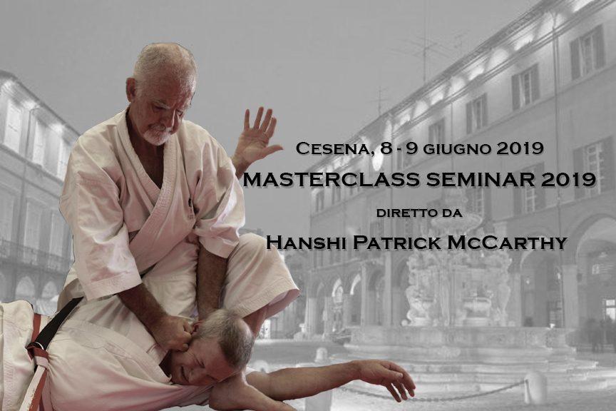 Masterclass Seminar 2019 con Hanshi Patrick McCarthy a Cesena
