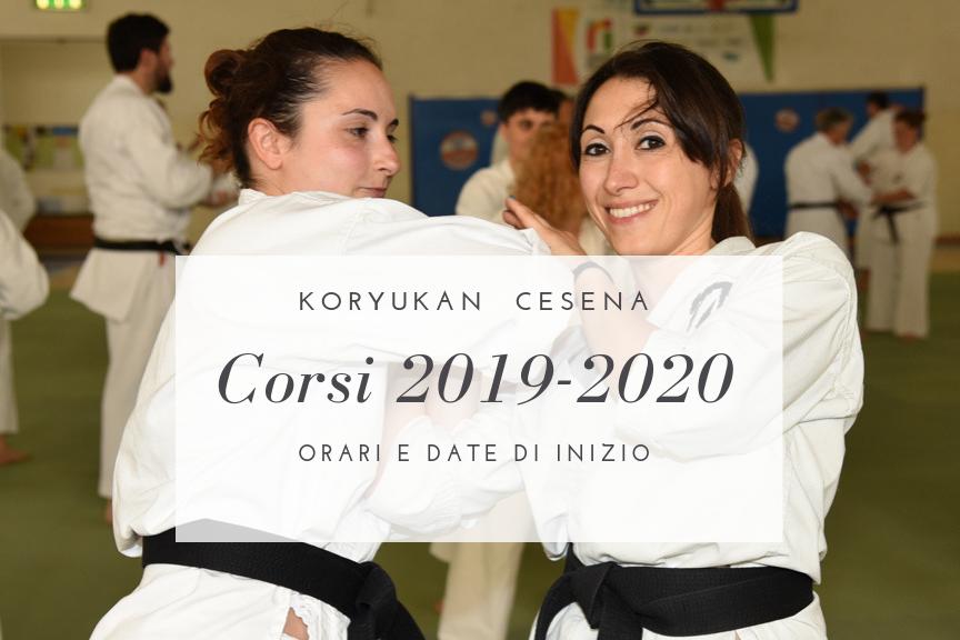 Koryukan Cesena: inizio corsi 2019-2020