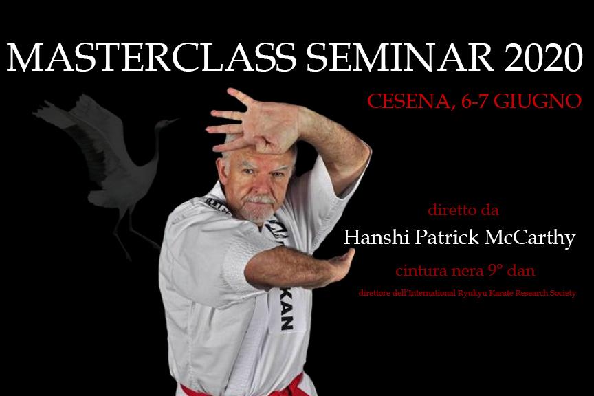 Masterclass Seminar 2020 con Hanshi Patrick McCarthy a Cesena