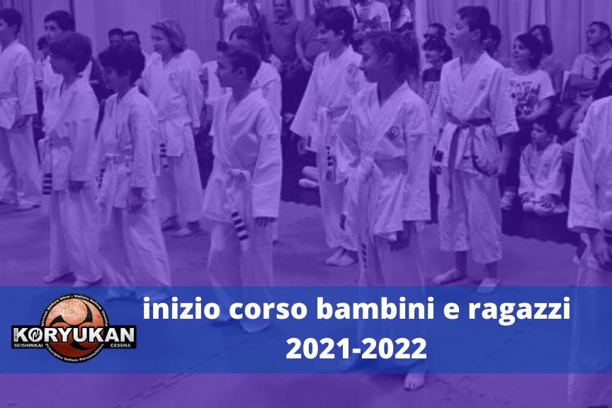 Inizio corso bambini e ragazzi 2021-2022
